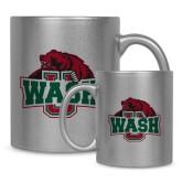 Full Color Silver Metallic Mug 11oz-Wash U w/Bear