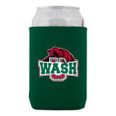Neoprene Green Can Holder-Wash U w/Bear