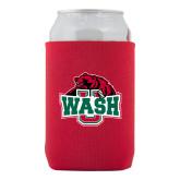 Neoprene Red Can Holder-Wash U w/Bear