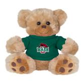Plush Big Paw 8 1/2 inch Brown Bear w/Dark Green Shirt-Wash U w/Bear