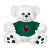 Plush Big Paw 8 1/2 inch White Bear w/Dark Green Shirt-Bear Head