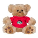 Plush Big Paw 8 1/2 inch Brown Bear w/Red Shirt-Wash U w/Bear