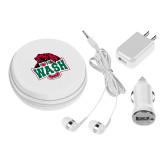 3 in 1 White Audio Travel Kit-Wash U w/Bear