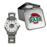 Mens Stainless Steel Fashion Watch-Wash U w/Bear