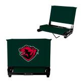 Stadium Chair Dark Green-Bear Head