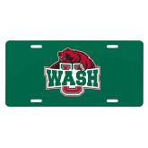 License Plate-Wash U w/Bear