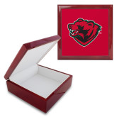 Red Mahogany Accessory Box With 6 x 6 Tile-Bear Head