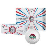 Callaway Supersoft Golf Balls 12/pkg-Wash U w/Bear