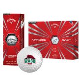 Callaway Chrome Soft Golf Balls 12/pkg-Wash U w/Bear