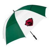 62 Inch Forest Green/White Umbrella-Bear Head