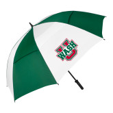 62 Inch Forest Green/White Umbrella-WashU