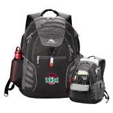 High Sierra Big Wig Black Compu Backpack-Wash U w/Bear