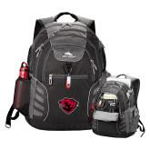 High Sierra Big Wig Black Compu Backpack-Bear Head