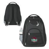 The Ultimate Black Computer Backpack-Wash U w/Bear