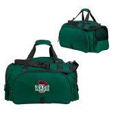 Challenger Team Dark Green Sport Bag-Wash U w/Bear
