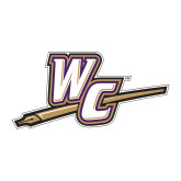 Large Decal-WC with Pen, 12 inches wide