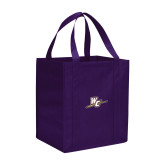 Non Woven Purple Grocery Tote-WC with Pen
