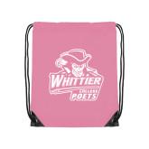 Light Pink Drawstring Backpack-Primary Mark