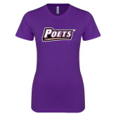 Next Level Ladies SoftStyle Junior Fitted Purple Tee-Poets
