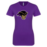 Next Level Ladies SoftStyle Junior Fitted Purple Tee-Poet Head