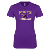 Next Level Ladies SoftStyle Junior Fitted Purple Tee-Water Polo