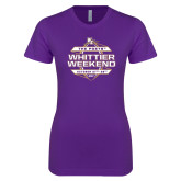 Next Level Ladies SoftStyle Junior Fitted Purple Tee-Whittier Weekend