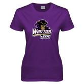 Ladies Purple T Shirt-Primary Mark
