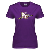 Ladies Purple T Shirt-WC with Pen
