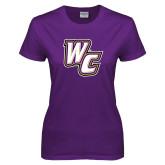 Ladies Purple T Shirt-WC