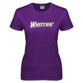 Ladies Purple T Shirt-Whittier