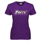 Ladies Purple T Shirt-Poets