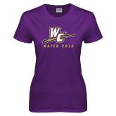 Ladies Purple T Shirt-Water Polo
