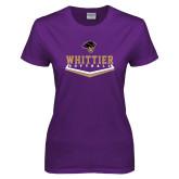 Ladies Purple T Shirt-Softball