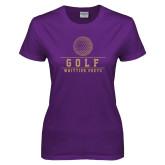 Ladies Purple T Shirt-Golf