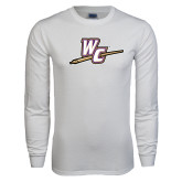 White Long Sleeve T Shirt-WC with Pen