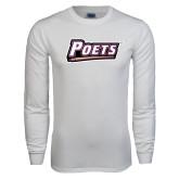 White Long Sleeve T Shirt-Poets