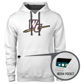 Contemporary Sofspun White Hoodie-WC with Pen