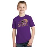 Youth Purple T Shirt-Lacrosse