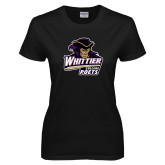 Ladies Black T Shirt-Primary Mark