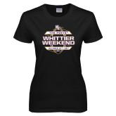 Ladies Black T Shirt-Whittier Weekend