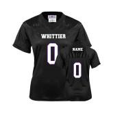 Ladies Black Replica Football Jersey-Personalized