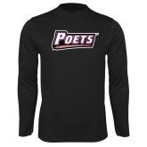 Performance Black Longsleeve Shirt-Poets