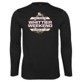 Performance Black Longsleeve Shirt-Whittier Weekend