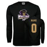 Black Long Sleeve T Shirt-Primary Mark, Custom Tee w/ Name and #