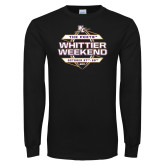 Black Long Sleeve T Shirt-Whittier Weekend