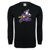 Black Long Sleeve T Shirt-Retro Poet