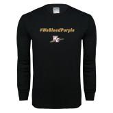 Black Long Sleeve T Shirt-We Bleed Purple