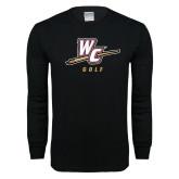 Black Long Sleeve T Shirt-Golf