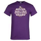 Purple T Shirt-Whittier Weekend