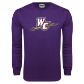 Purple Long Sleeve T Shirt-WC with Pen
